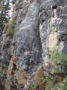 Rock Climbing Photo: Lee drinks in Smearnoff, a hard 5.12 at The Booze ...