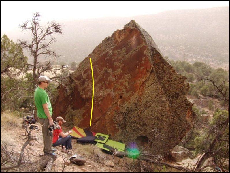 Rock Climbing Photo: Dusty Hollow problem on Castle Block.