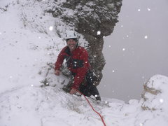 Rock Climbing Photo: Dolomites, 4 inches of snow fell by the top-out on...