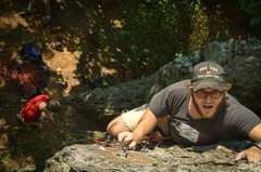 Rock Climbing Photo: Graham Spees on his first sport lead.