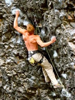 Rock Climbing Photo: Pulling through the lower section of Naked Man