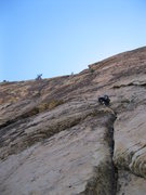 Rock Climbing Photo: Darren leading the 1st pitch of GLB.  Right from t...