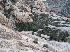 Rock Climbing Photo: Gomoll following p3.