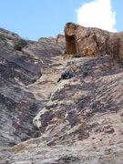Rock Climbing Photo: Gomoll leading p4.