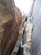 Rock Climbing Photo: Darren leading p7.  Some say p3 is worrying, but I...