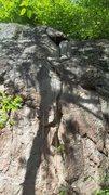 Rock Climbing Photo: Upper part of Neruda 5.7+. anchors at top.
