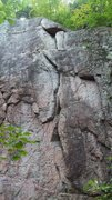 Rock Climbing Photo: Neruda is the funny crack in  the middle. Crux is ...