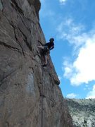 Rock Climbing Photo: Mike Keegan at the 3rd bolt on Stroh's.
