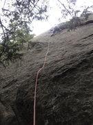 Rock Climbing Photo: Once you reach this flake, the rest of the route i...