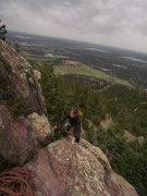 Rock Climbing Photo: The last easy section to the top....  Great views ...