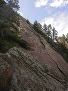 Rock Climbing Photo: You can follow that left-facing flake system for m...