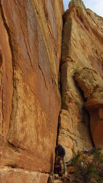 Rock Climbing Photo: As the route looks when you're approaching from th...