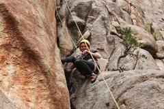 Rock Climbing Photo: Sarah got thirsty.