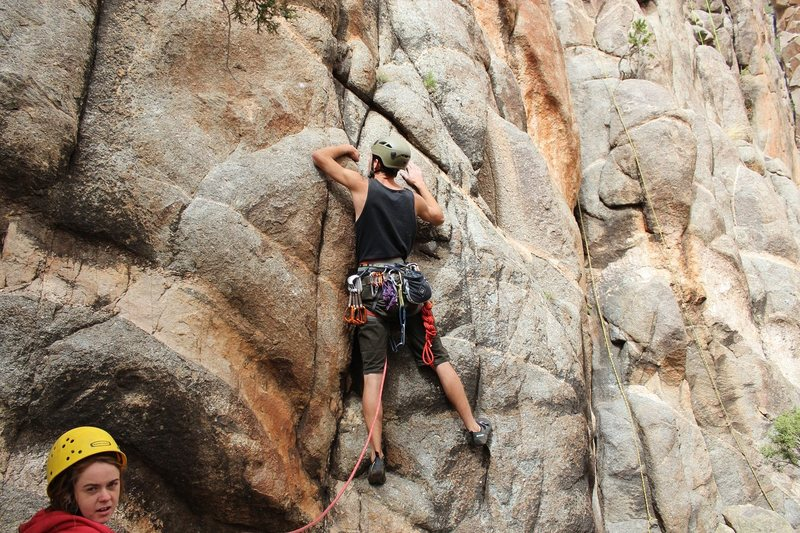 Rock Climbing Photo: Nick on the start moves of 84.1% Eclipse of the He...