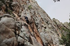 Rock Climbing Photo: The route goes right of the tree the rope is runni...