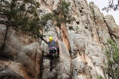 Rock Climbing Photo: Sarah clipping the first bolt on 84.1% Eclipse of ...