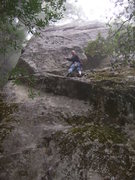 Rock Climbing Photo: jim in the fog