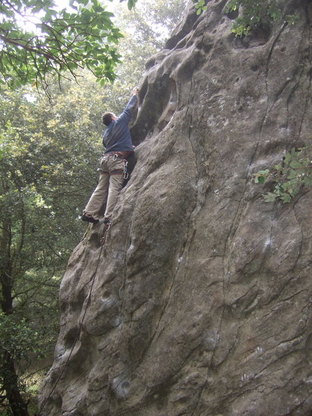 Rock Climbing Photo: clipping second bolt