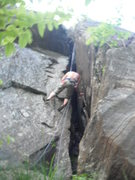 Rock Climbing Photo: Cleaning Scuttlebut (5.6)