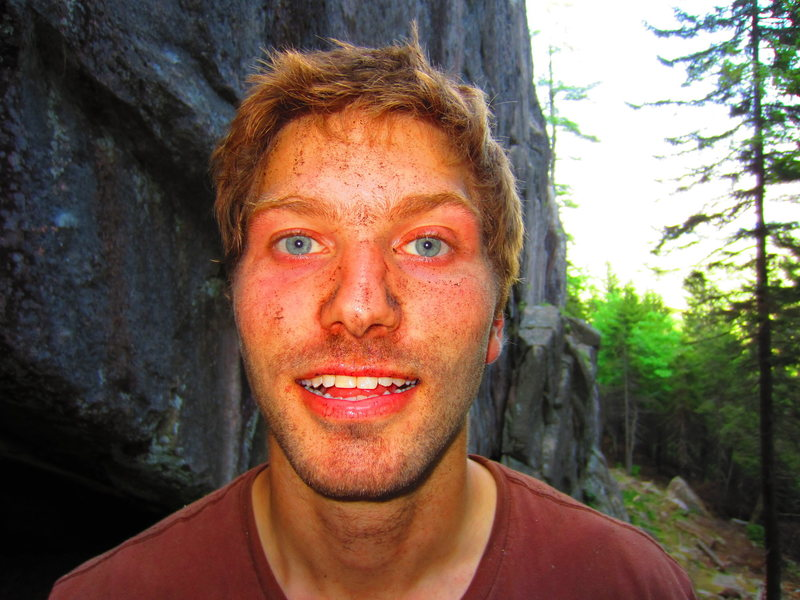Rock Climbing Photo: After cleaning the route...