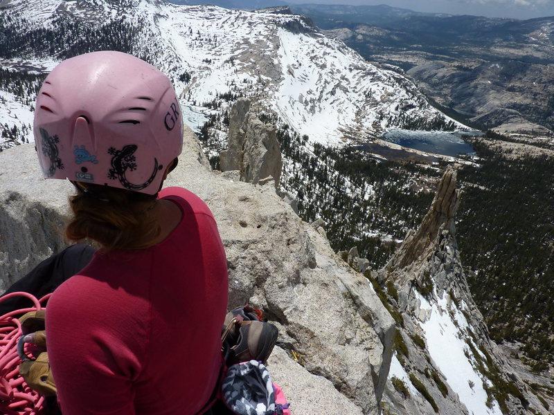 Rock Climbing Photo: Matisse on summit, May 2012