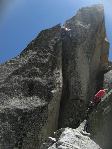 Rock Climbing Photo: Nathan Fitzhugh belayed by Agina Sedler.  5-27-12