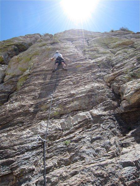 Rock Climbing Photo: Jim Scott back at it again.