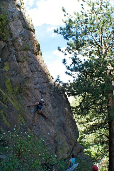 Rock Climbing Photo: Me at the crux section of M's T.