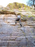 Rock Climbing Photo: Lower roof section.