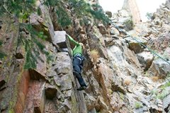Rock Climbing Photo: Whitney on County Line