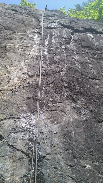 Rock Climbing Photo: Starts to the right of the rope