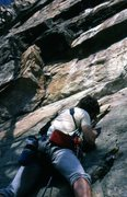 Rock Climbing Photo: April 5th 1988. Mark Taylor getting started on Lan...