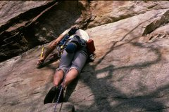 Rock Climbing Photo: April 5th 1988. Mark Taylor on Lands End up at the...