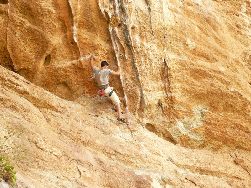 Rock Climbing Photo: Tufa section