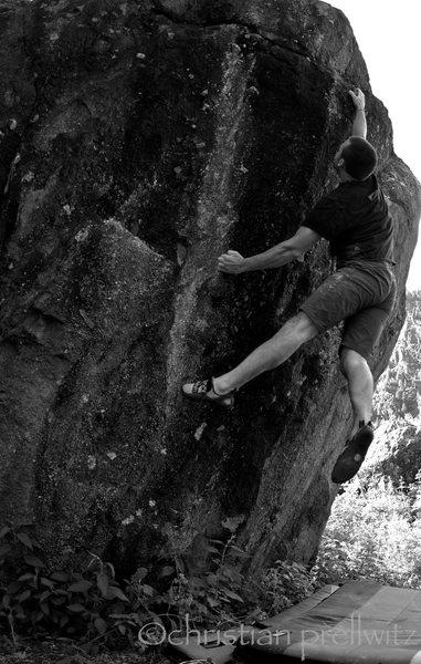Rock Climbing Photo: Christian Prellwitz latching the top on 'The Cryin...
