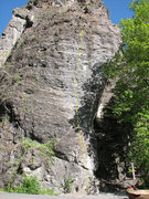 Rock Climbing Photo: Patty Baby.  Pig Pen is up the overhanging face to...