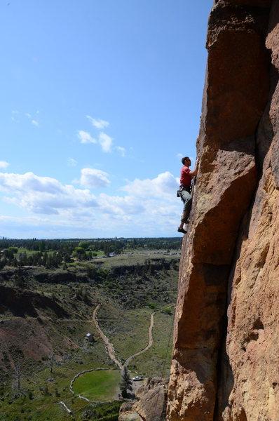 Rock Climbing Photo: Bret on Finger Puppet