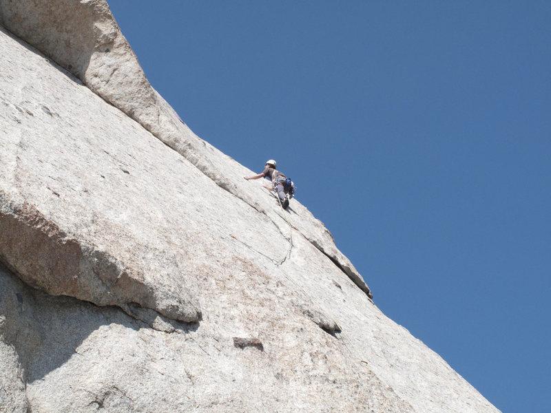 Rock Climbing Photo: getting into P1 crux