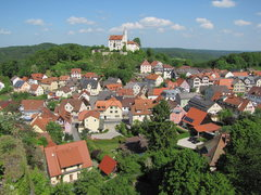 Rock Climbing Photo: The view of Gößweinstein from atop Gernerfels.