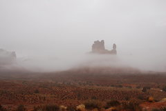 Rock Climbing Photo: Valley OF The Gods in the winter fog Jan. 2009