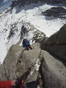 Rock Climbing Photo: Fun on the 4th pitch.