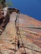 Rock Climbing Photo: Dan on the FA