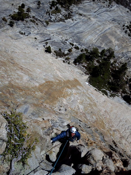 Rock Climbing Photo: Nathan groovin' up the Furrows Pitch. P10.   Photo...