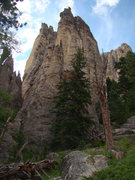 Rock Climbing Photo: Moving Finger in the foreground.  Rubaiyat Spire i...