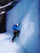 Rock Climbing Photo: Me leading the last pitch on some sinker butter ic...