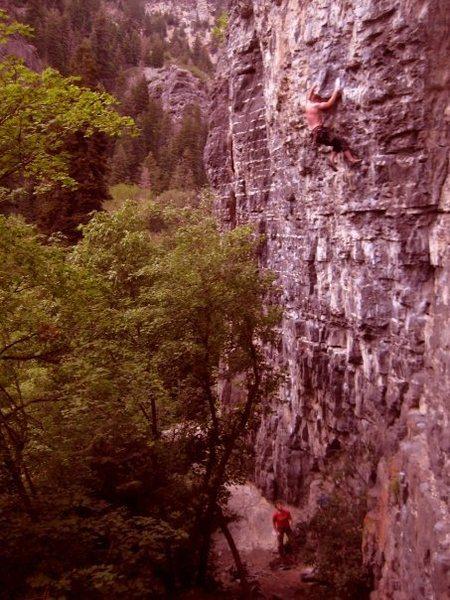 Rock Climbing Photo: V3 Crux