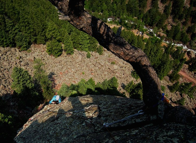 Rock Climbing Photo: Stef Van Wychen on Off The Cuff at Lower Peanuts, ...