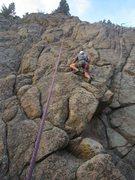 "Rock Climbing Photo: Jason Haas follows the FKA of ""B-Line for the..."