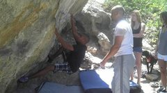 Rock Climbing Photo: At a warm up at Ute Valley Pass May 2012