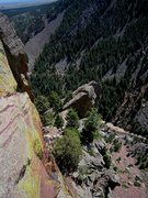 "Rock Climbing Photo: ""You climbed where?"" Kat A. scopes out t..."